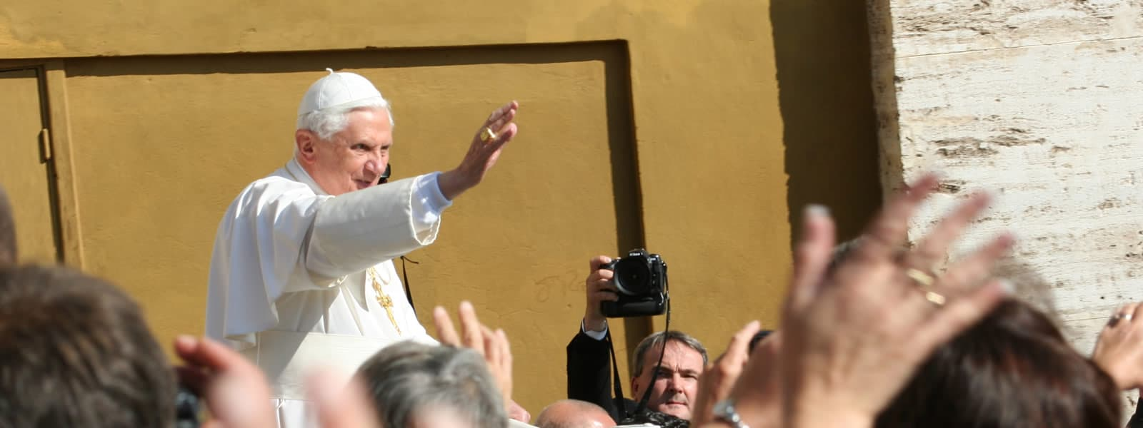 Pope in Crowd