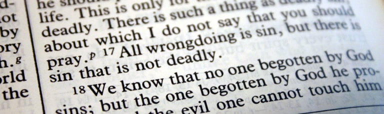 Bible verse: All wrongdoing is sin, but there is sin that is not deadly.