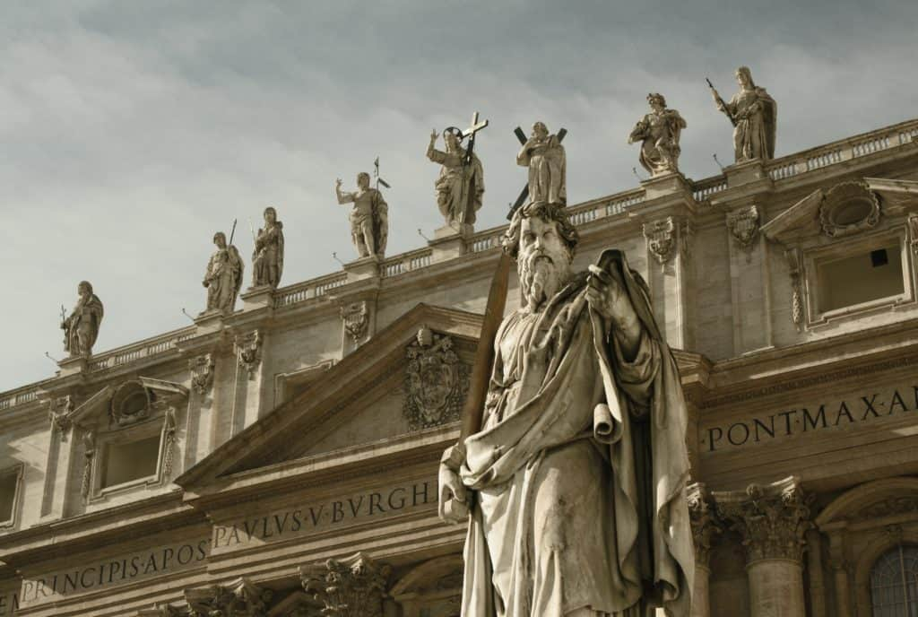 Saint Statues at St. Peter's Bascilica