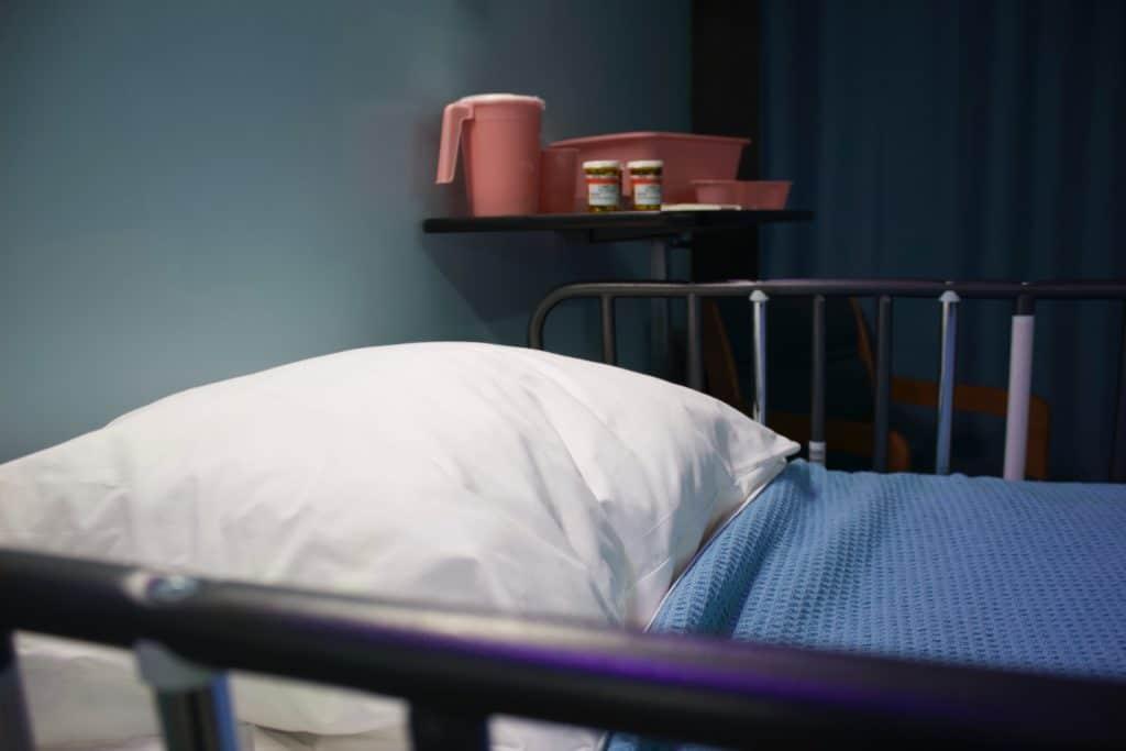 hospital bed, last rites