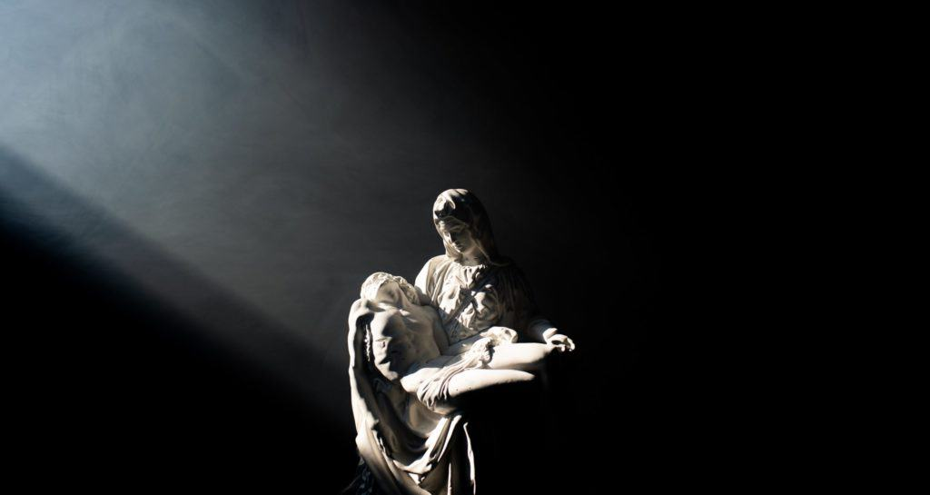 Mary holding Jesus after Crucifiction